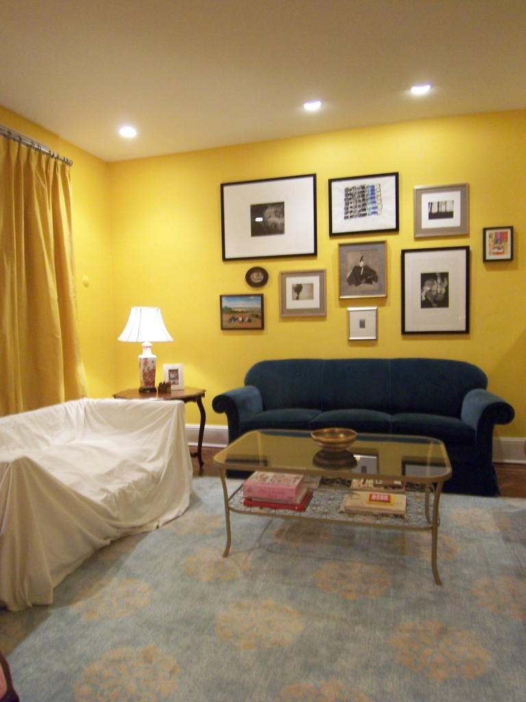 Gray vs green for a dining room bossy color annie Bright yellow wall paint