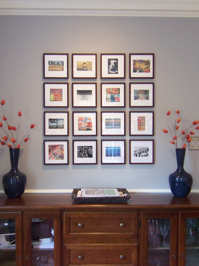 Art Wall Hung In Grid