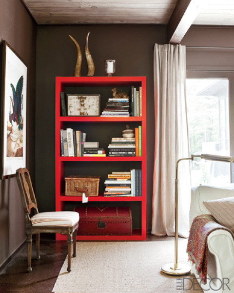 Elle Decor Bookshelves: Built-in Bookshelves, Or Freestanding Bookcases?