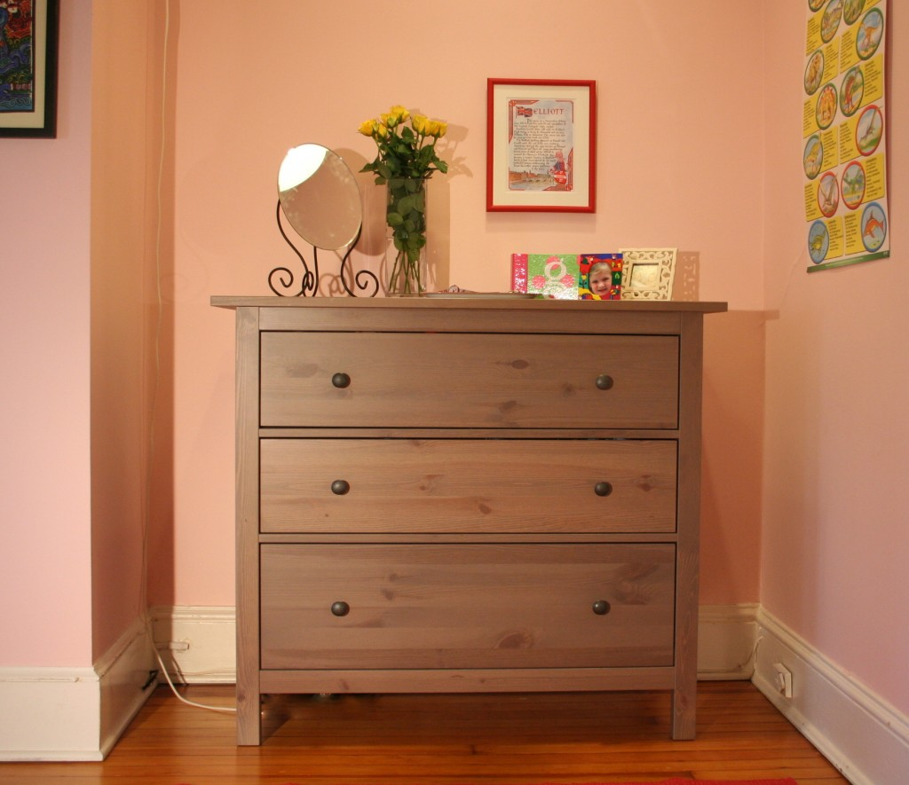 Girl 39 s pink bedroom makeover bossy color annie elliott for Bedroom dressers ikea