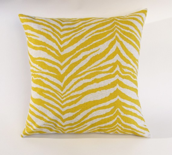 Yellow Zebra pillow