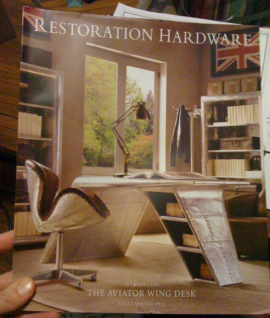 Restoration Hardware catalog. Restoration Hardware Aviator Wing Desk