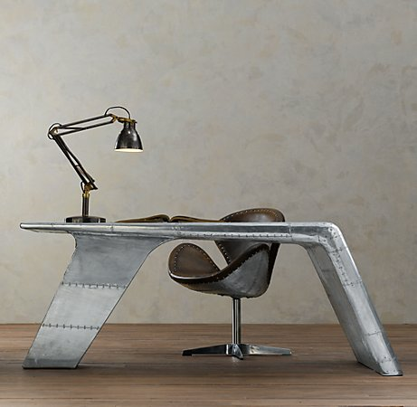 Restoration Hardware's Aviator Wing desk
