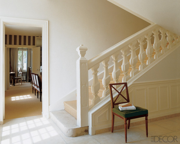 White foyer staircase