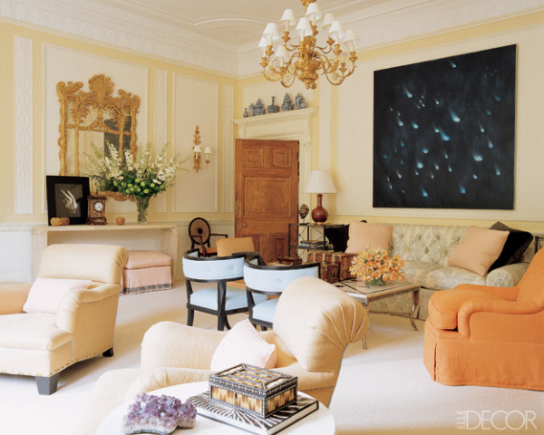 Peach And Cream Living Room