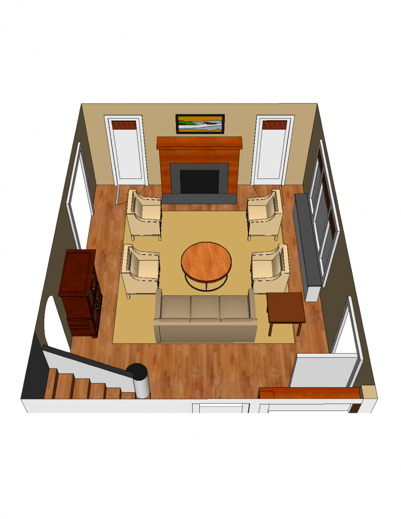 SketchUp Drawing Living Room