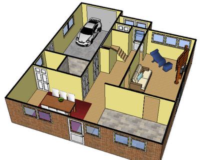 SketchUp Model Of House
