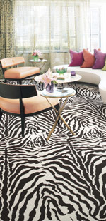 Patterned Wall To Wall Carpeting Bossy Color Annie