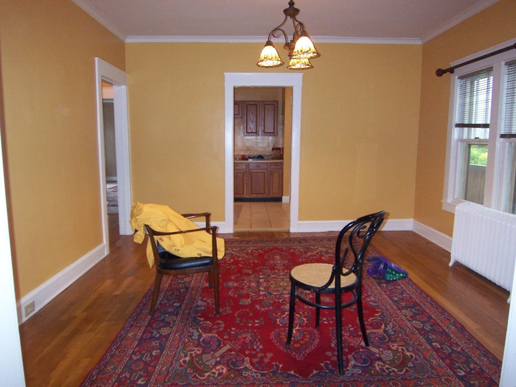 Dining room with Oriental rug