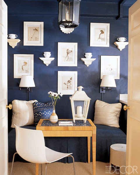 Navy Blue Breakfast Room