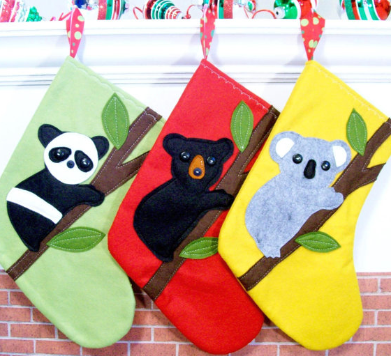 Bear Christmas stockings
