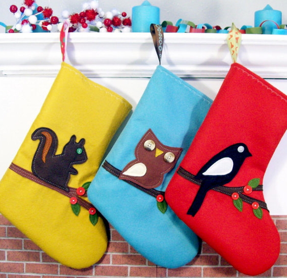 Christmas stockings from Etsy