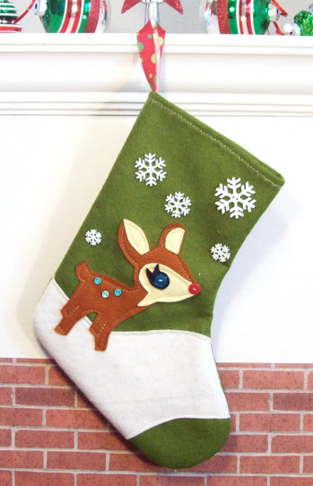 Rudolph Christmas stocking