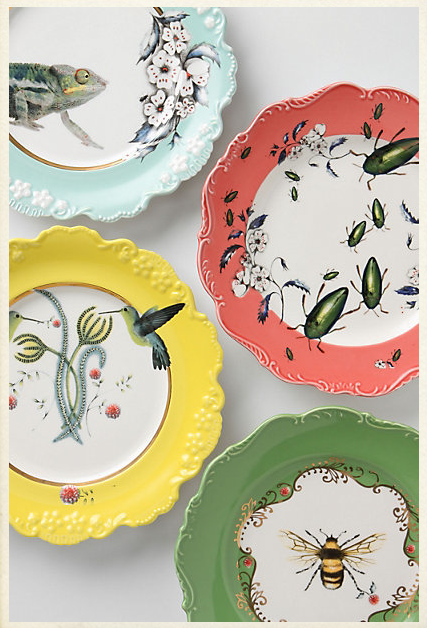 Anthropologie Natural World dessert plates