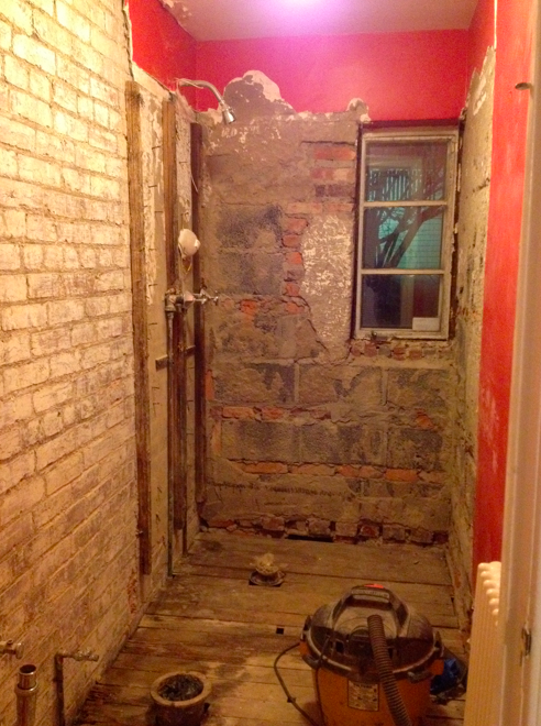 Demolished powder room