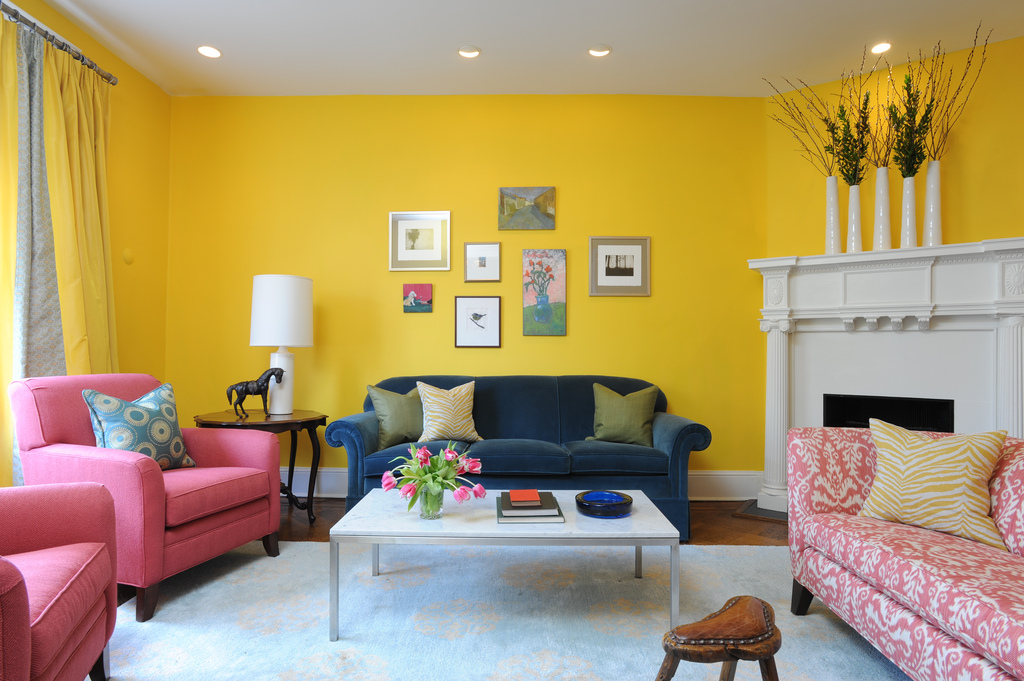 Yellow High Low Living Room Bossy Color Annie Elliott