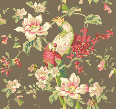 Wallpaper with parrots on it