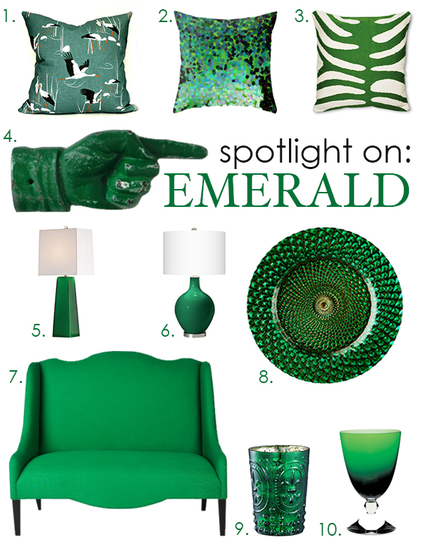 Pantone's color of the year 2013: Emerald Green small changes