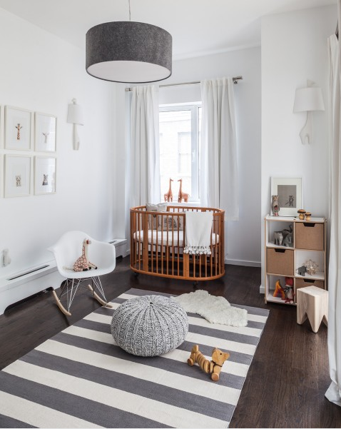Gray and white nursery