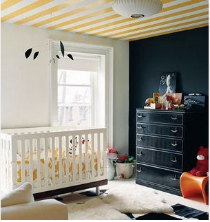 Black, white and yellow nursery