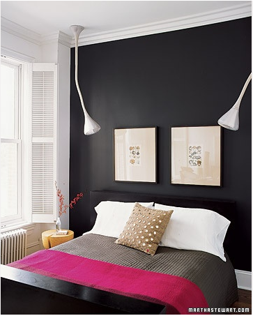 Accent wall update new trends in accent walls bossy for Black interior paint
