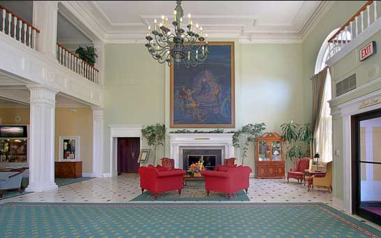Lobby of The Queensbury Hotel, Glens Falls, NY