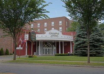 The Queensbury Hotel entrance, Glens Falls, NY