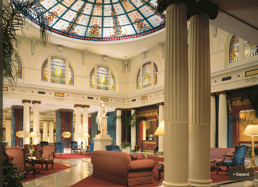 Lobby/rotunda of The Jefferson Hotel, Richmond, VA