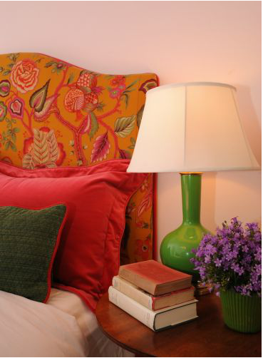 Robert Abbey's Genie Table Lamp in a bossy color designed bedroom