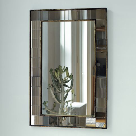 West Elm's Antique Tiled Mirror