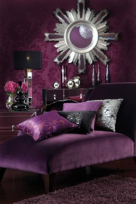 My love hate relationship with purple bossy color annie - Black and silver lounge design ...