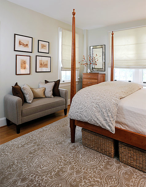 interior design of master bedroom