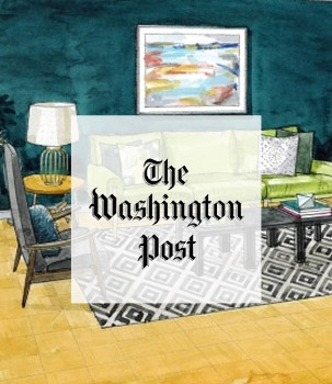 Bossy Color in the Washington Post - A blank-space condo living area gets a modern makeover