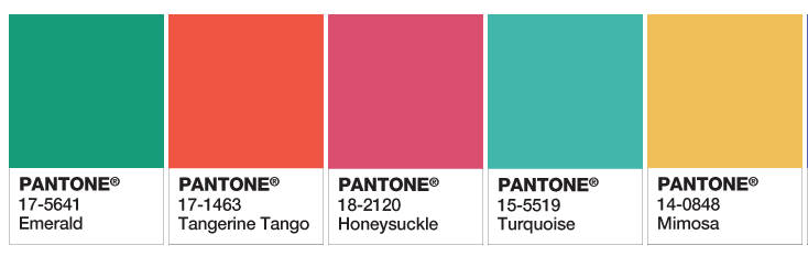 Pantone's colors of the year