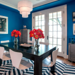 Black and blue (and brass): 2014's edgy color combo