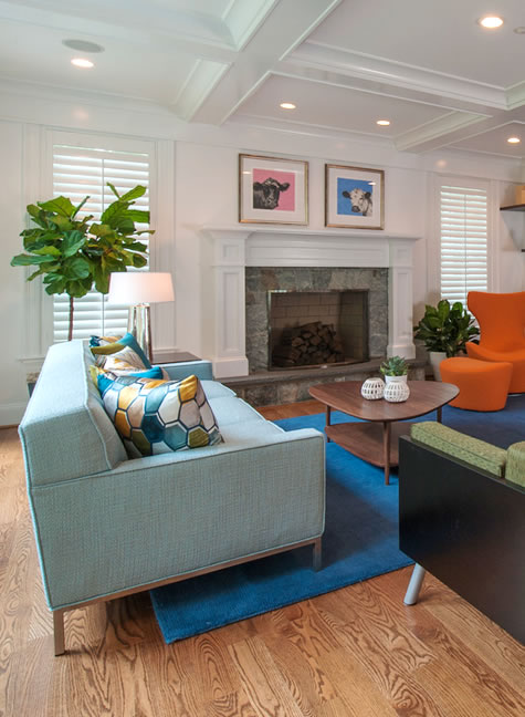 Living Room Design by bossy color