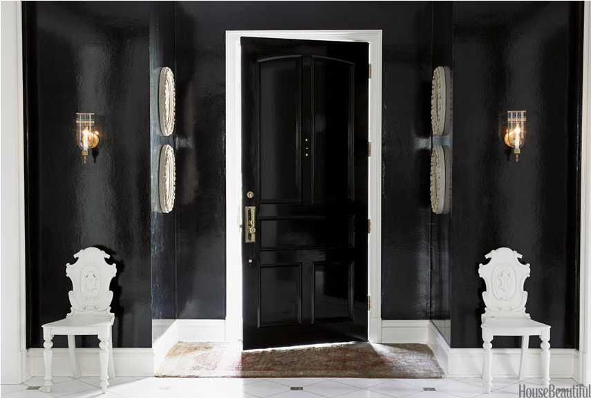 Black Lacquer Foyer/Entry Hall
