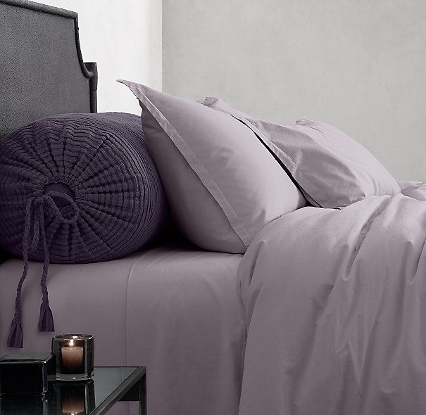 Garment-Dyed Sateen Bedding Collection in Orchid