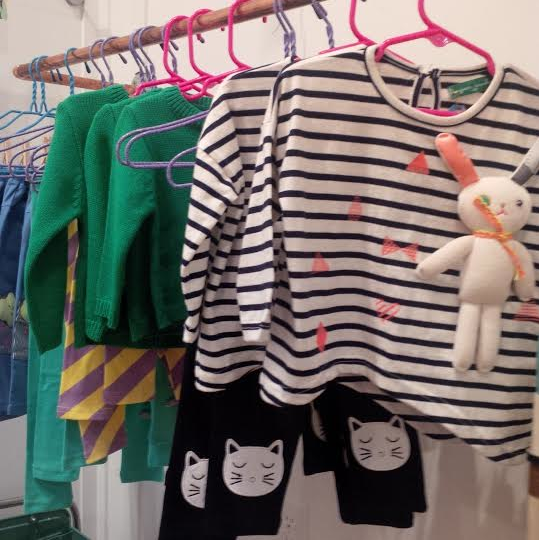 Kids' handmade clothing at Paper Rock Scissors