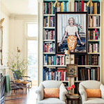 Go ahead: hang art on your bookcases