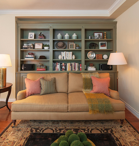 Living Room with green book