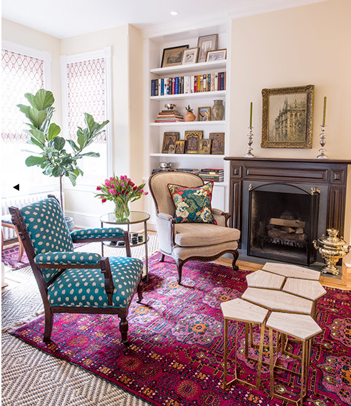 Living Room Persian Rug: Annie Elliott Interior Design