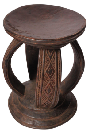 Tribal wooden stool