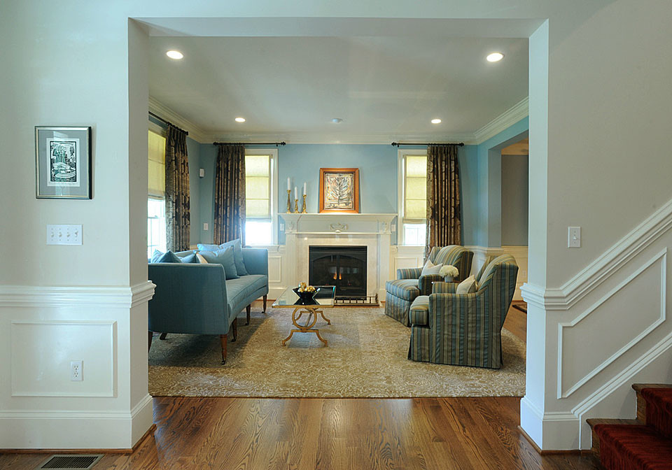 Chevy chase classic family home by dc interior designer for Classic house design interior