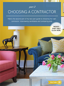Bossy Color Guide: Choosing a Contractor, part 2