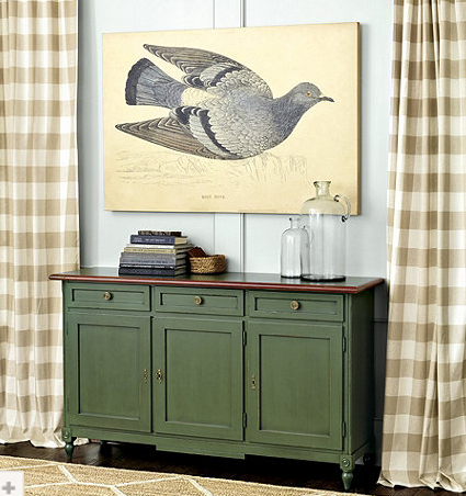 Large oversized painting wall art of a gray pigeon
