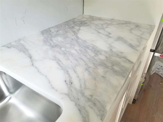 Calacatta Belgia marble kitchen counters