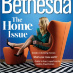 Bossy color is on the cover of Bethesda Magazine's Home Issue!