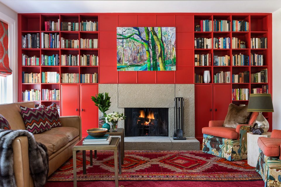 Red Library, Design by Annie Elliott, bossy color