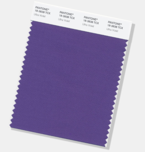 Swatch of Ultraviolet, Pantone's Color of the Year 2018